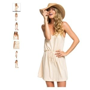 New Roxy Isla Vista Strappy Cream Dress X-large